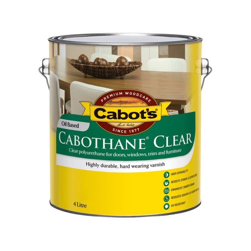 Cabot's Cabothane Clear Oil Based Gloss 4L