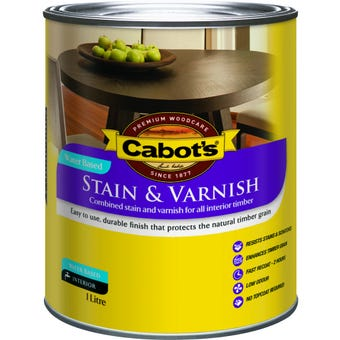 Cabot's Stain & Varnish Water Based Tint Base Satin 1L
