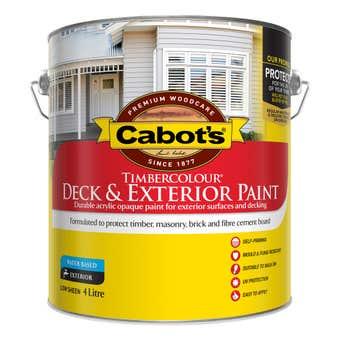 Cabot's Timbercolour Deck & Exterior Paint Ultra Deep Base 4L