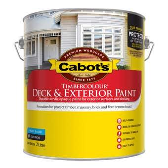 Cabot's Timbercolour Deck & Exterior Paint White 2L