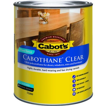 Cabot's Cabothane Water Based Matt Clear 1L
