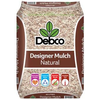 Debco Designer Natural Mulch 40L