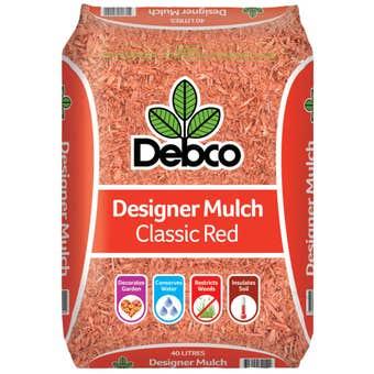 Debco Designer Mulch Classic Red 40L