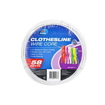 Zenith Clothesline Wire Core Light Grey 3.7mm x 58m