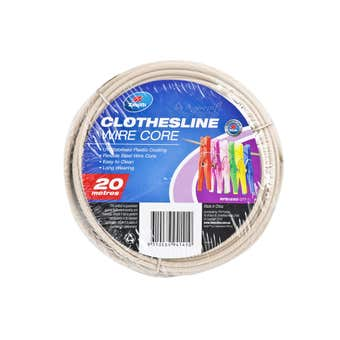 Zenith Clothesline Wire Core Beige 3.7mm x 20m