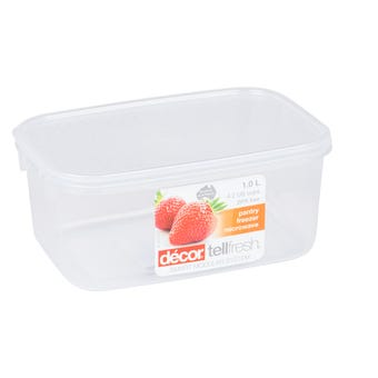 Decor Tellfresh Oblong Storer 1L