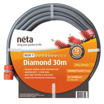 Neta Diamond Fitted Hose 30m x 12mm
