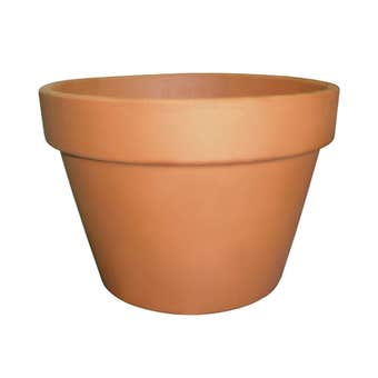 Northcote Pottery Italian Squat Pot Terracotta 210mm