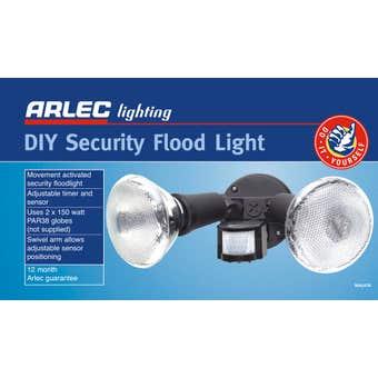 Arlec DIY Security Twin Floodlight
