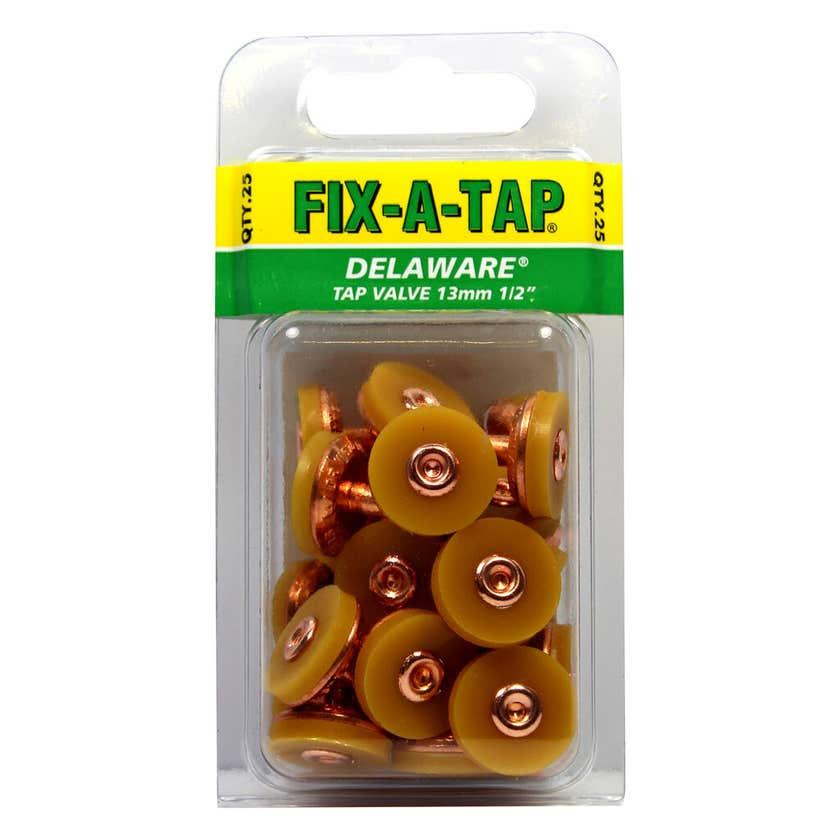 FIX-A-TAP Delaware Tap Valves 13mm 25 Pack