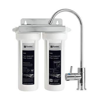 Puretec Twin Undersink Water Filter Systemwith Filter Tap