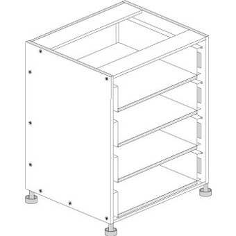Principal Drawer Cabinet 800mm 3 Drawers Premium