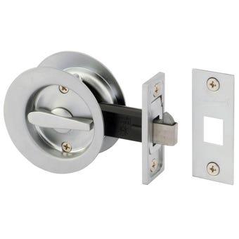Gainsborough Circular Sliding Cavity Set Privacy Satin Chrome
