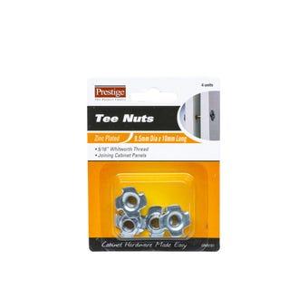 Prestige Tee Nuts Zinc Plated 5/16 - 4 Pack