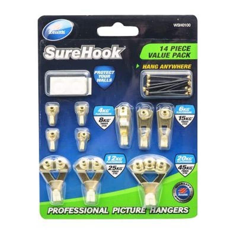 Zenith SureHook Picture Hanger Kit - 14 Piece