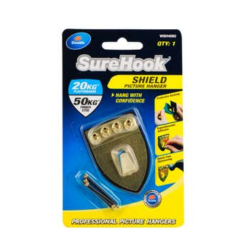 Zenith SureHook Shield Picture Hangers 25/50kg - 1 Pack