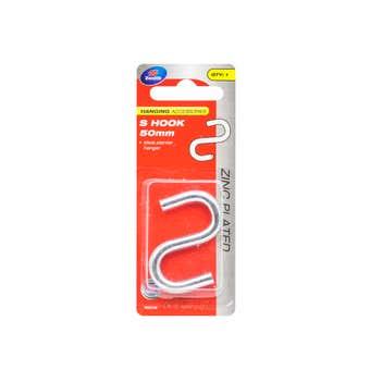 Zenith S Hook Zinc Plated 50mm - 1 Pack