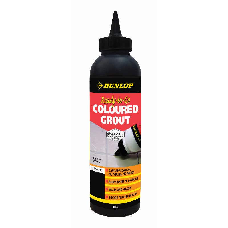 Dunlop Ready-To-Go Coloured Grout Jet Black 800g