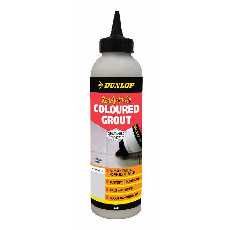 Dunlop Ready-To-Go Coloured Grout Misty Grey 800g