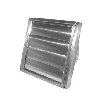 Deflecto Kensington Gravity Stainless Steel Wall Vent 150mm