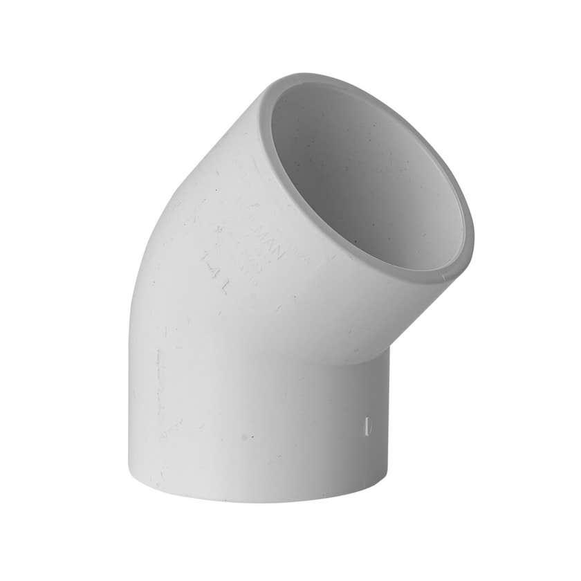 Holman PVC Pressure Elbow 40mm 45 Deg