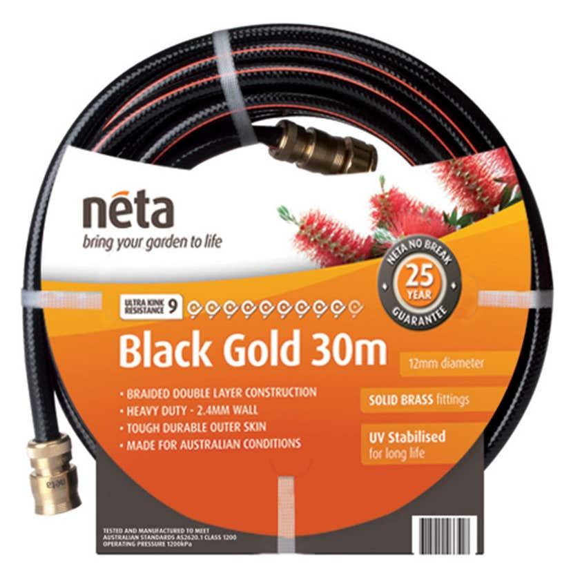 Neta Black Gold Fitted Hose 30m x 12mm