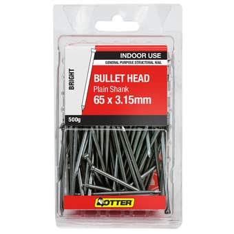 Otter Bullet Head Nail Bright 65 x 3.15mm 500g