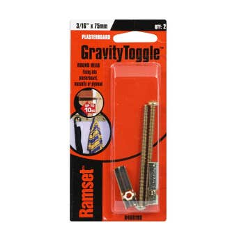 "Ramset GravityToggle Round Head 3/16"" x 75mm - 3 Pack"