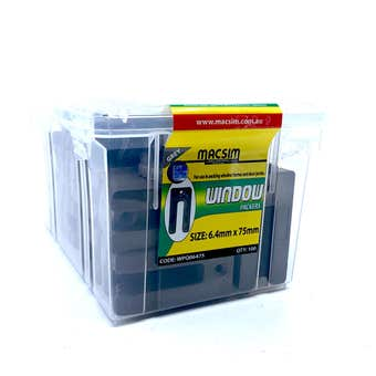 Macsim Window Packers 6.4mm x 75mm Grey - Box of 100