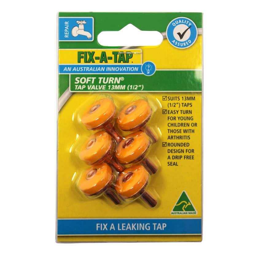 FIX-A-TAP Soft Turn Tap Valve 13mm - 6 Pack