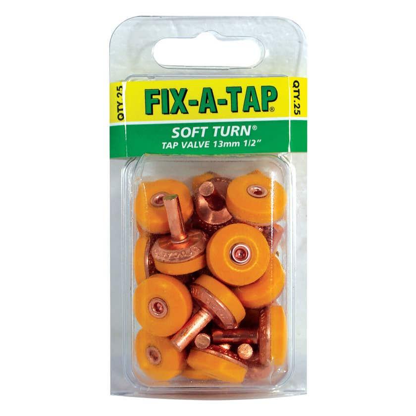 FIX-A-TAP Soft Turn Tap Valve 13mm - 25 Pack