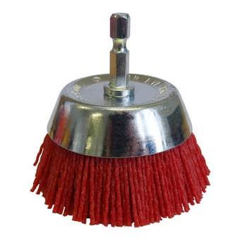 Josco Nylon Brush Wheel Red 75mm
