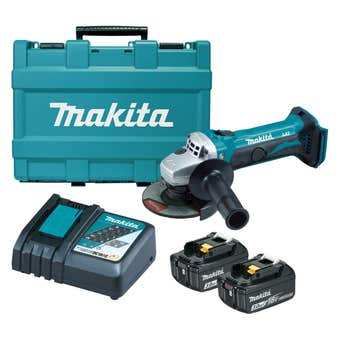 Makita 18V 115mm Slide Switch Angle Grinder Kit DGA452RFE