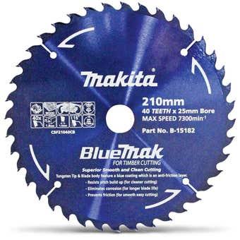 Makita Bluemak 40T Circular Saw Blade 210mm