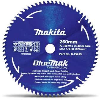 Makita Bluemak TCT Circular Saw Blade 72T 260mm