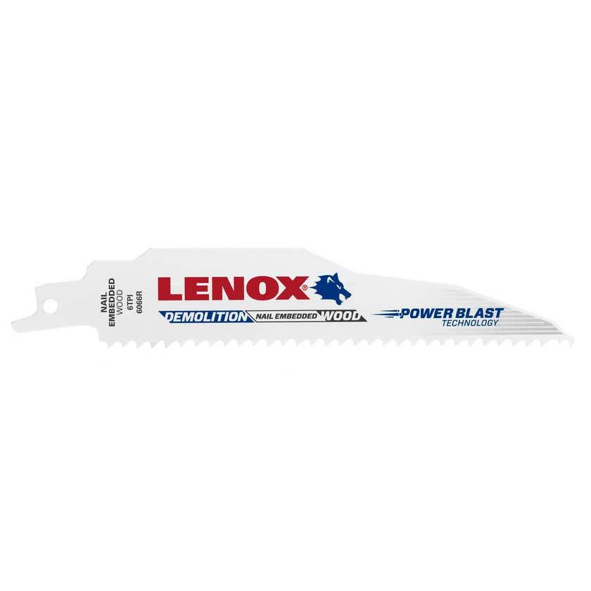 Lenox Demolition Bi-Metal Reciprocating Saw Blades 6TPI 152 x 22 x 1.6mm - 5 Pack