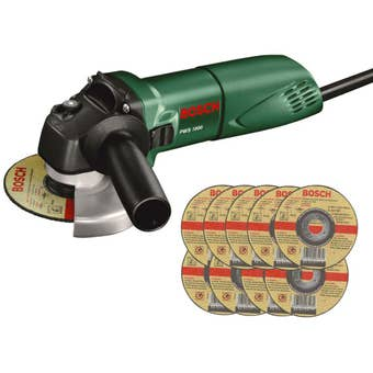 Bosch 670W Angle Grinder with Grinding Discs