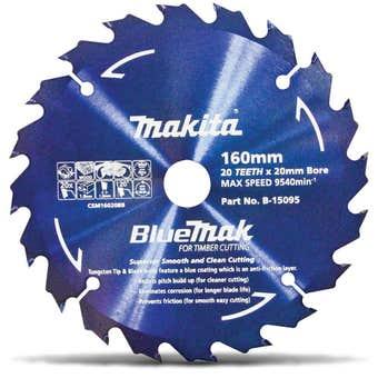 Makita Bluemak TCT Circular Saw Blade 20T 160mm