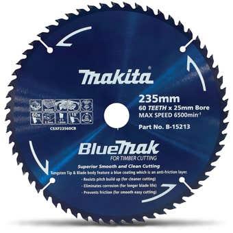 Makita Bluemak TCT Circular Saw Blade 60T 235mm