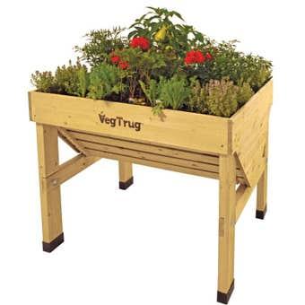 Vegtrug Raised Garden Bed Classic Natural 1m
