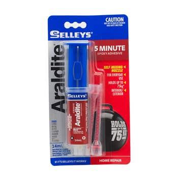 Selleys Araldite 5 Minute Epoxy Adhesive 14ml