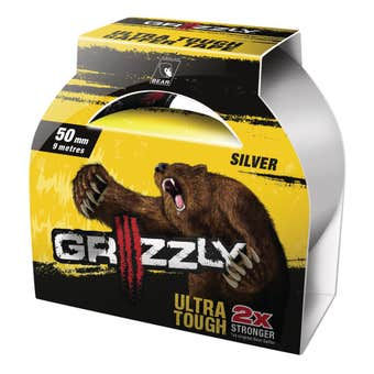 Grizzly Ultra Tough Gaffer Tape Silver 50mm x 9m