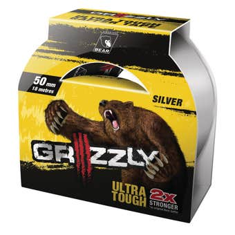 Grizzly Ultra Tough Gaffer Tape Silver 50mm x 18m