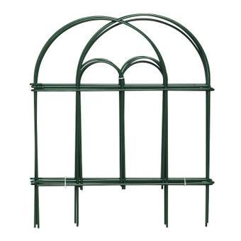 Garden Trend Wire Border Fence Edging Green 450 x 380mm - 6 Pack