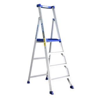 Bailey P150 4 Step Aluminium Platform Ladder 150kg Industrial