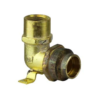 Elbow Wall Flare Comp Brass 15FI x 20C