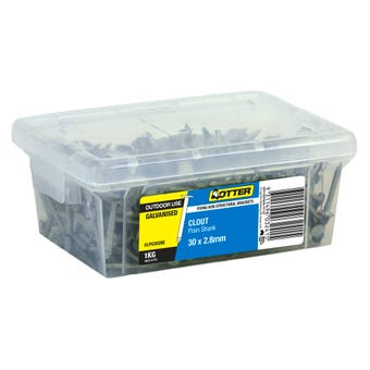 Otter Clout Galvanised Nail 30x2.8mm 1kg