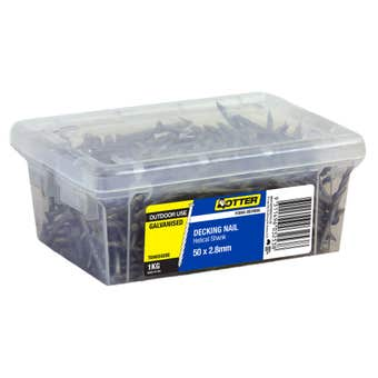 Otter Nail Titadeck Helical Galvanised 50 x 2.8mm 1kg