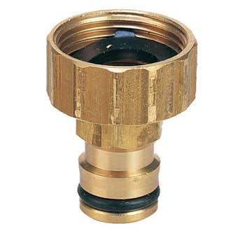 """Neta Brass Tap Adaptor 3/4"""" x 12mm"""