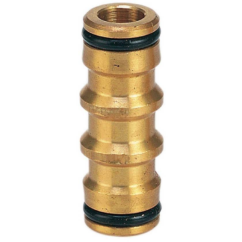 Neta Brass 2-End Hose Coupler 12mm
